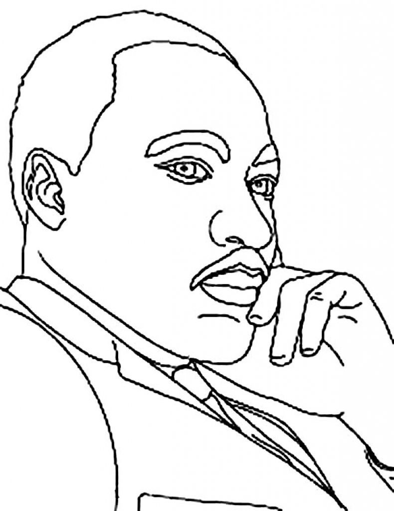 - The Stylish As Well As Attractive Martin Luther King Coloring Page