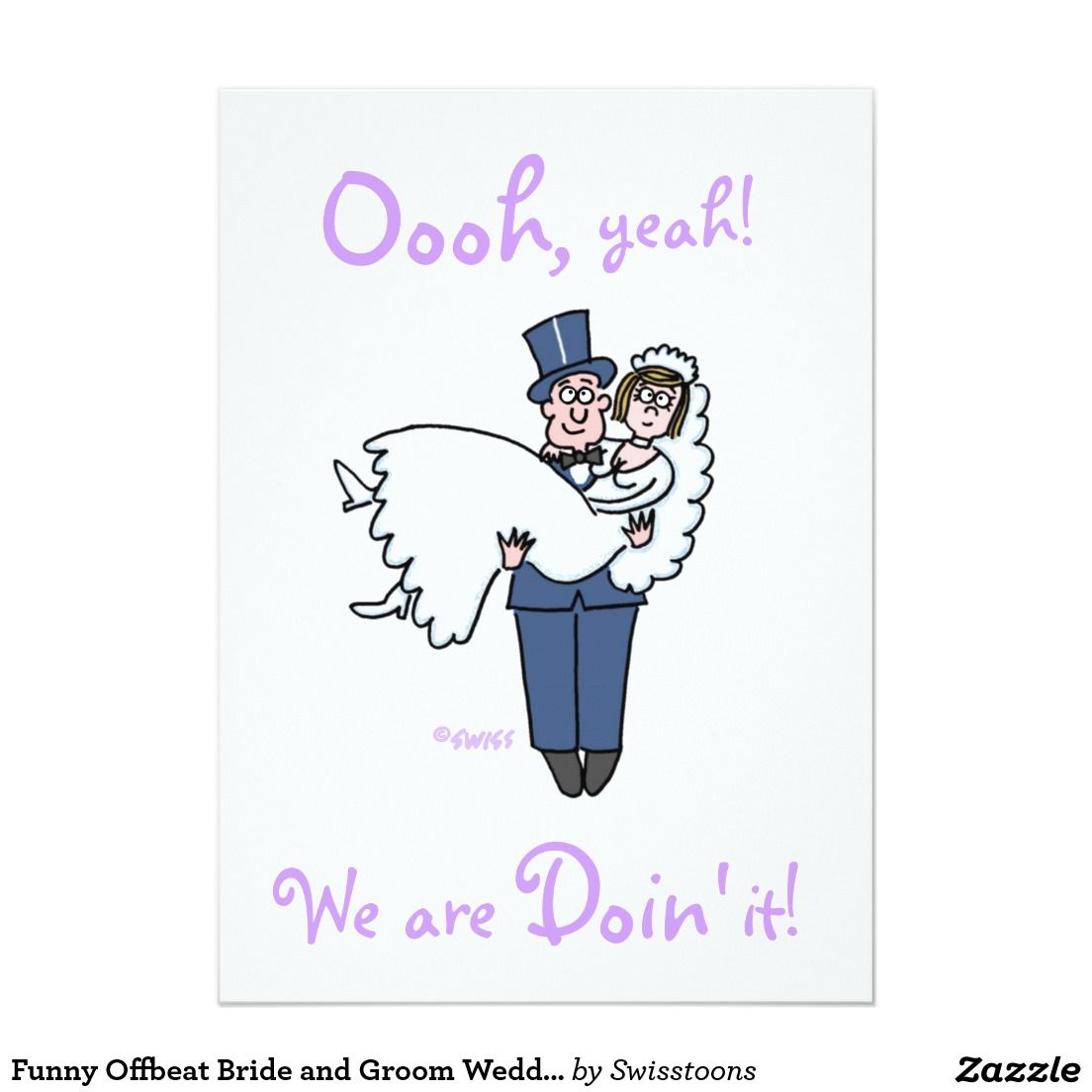 Funny Offbeat Bride and Groom Wedding Invitations | Pinterest ...