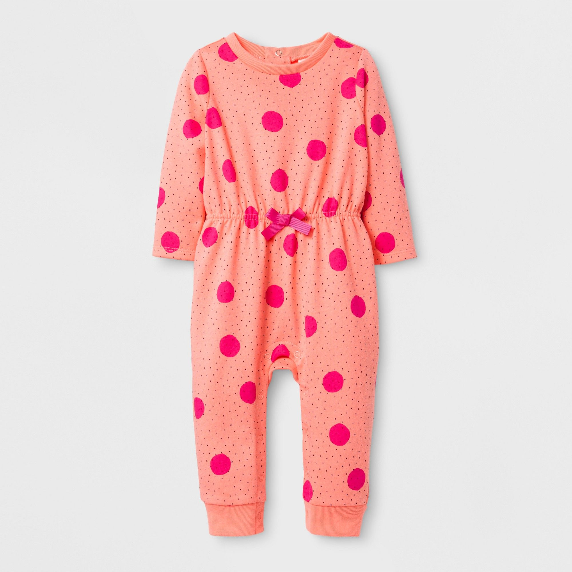 Baby Girls Dots French Terry Romper Cat & Jack Peach 18 Months