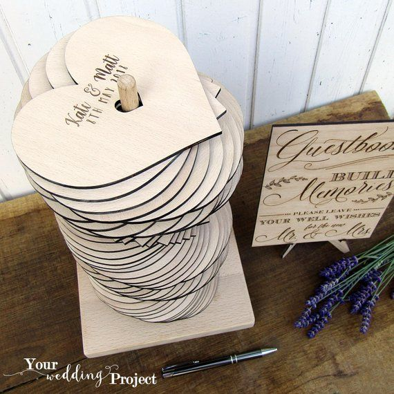 Wedding Guest Book Alternative Heart Wedding Guest Book