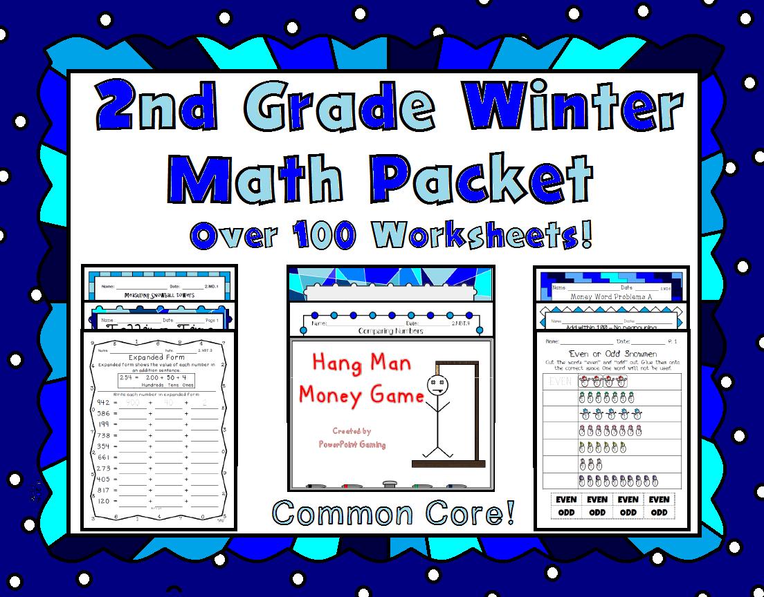 2nd Grade Winter Math Packet