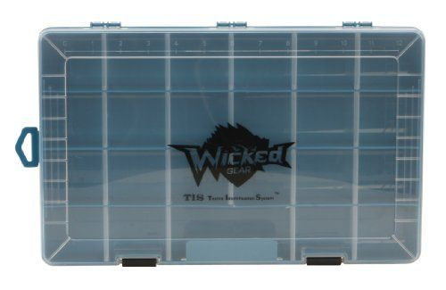 Wicked Gear T.I.S. Plastic organizer Box - http://bassfishingmaniacs.com/?product=wicked-gear-t-i-s-plastic-organizer-box