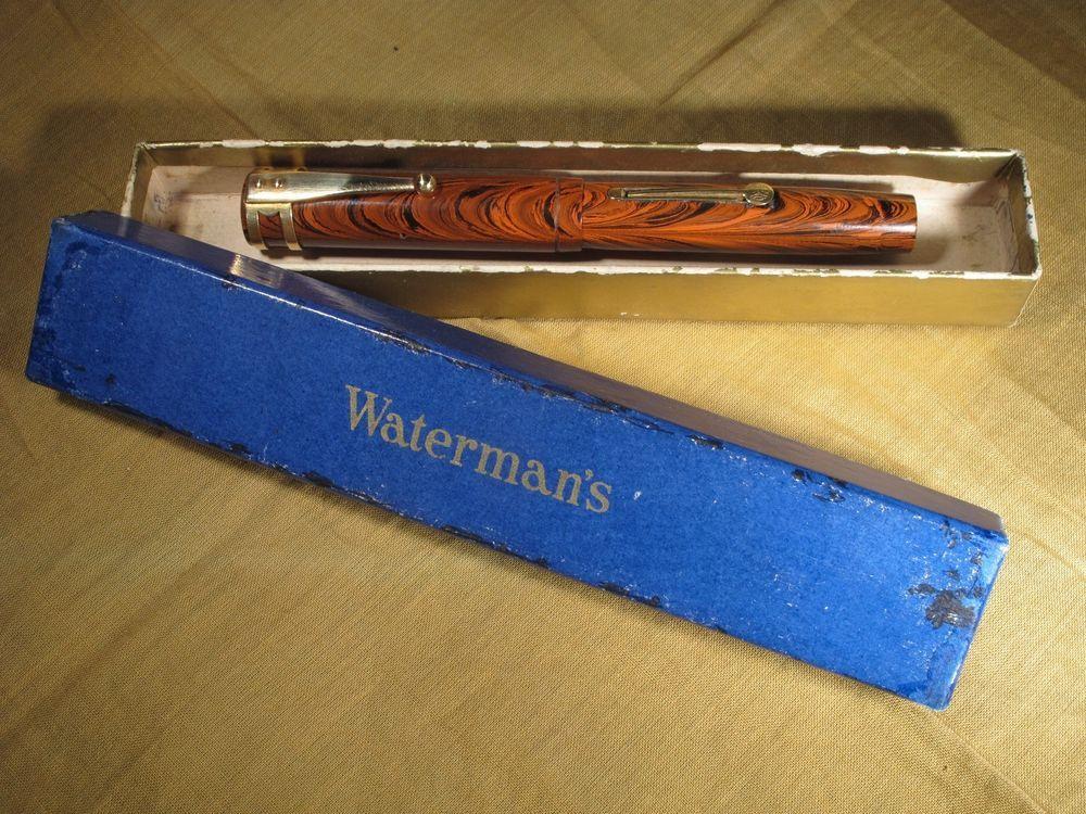 Waterman 52V RIPPLE pen EXCELLENT  18kt clip & nib imprints DEEP