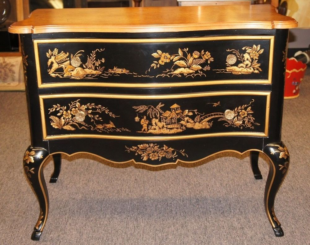Drexel Heritage Furniture Bombay Commode Oriental Chest Of Drawers Nightstand