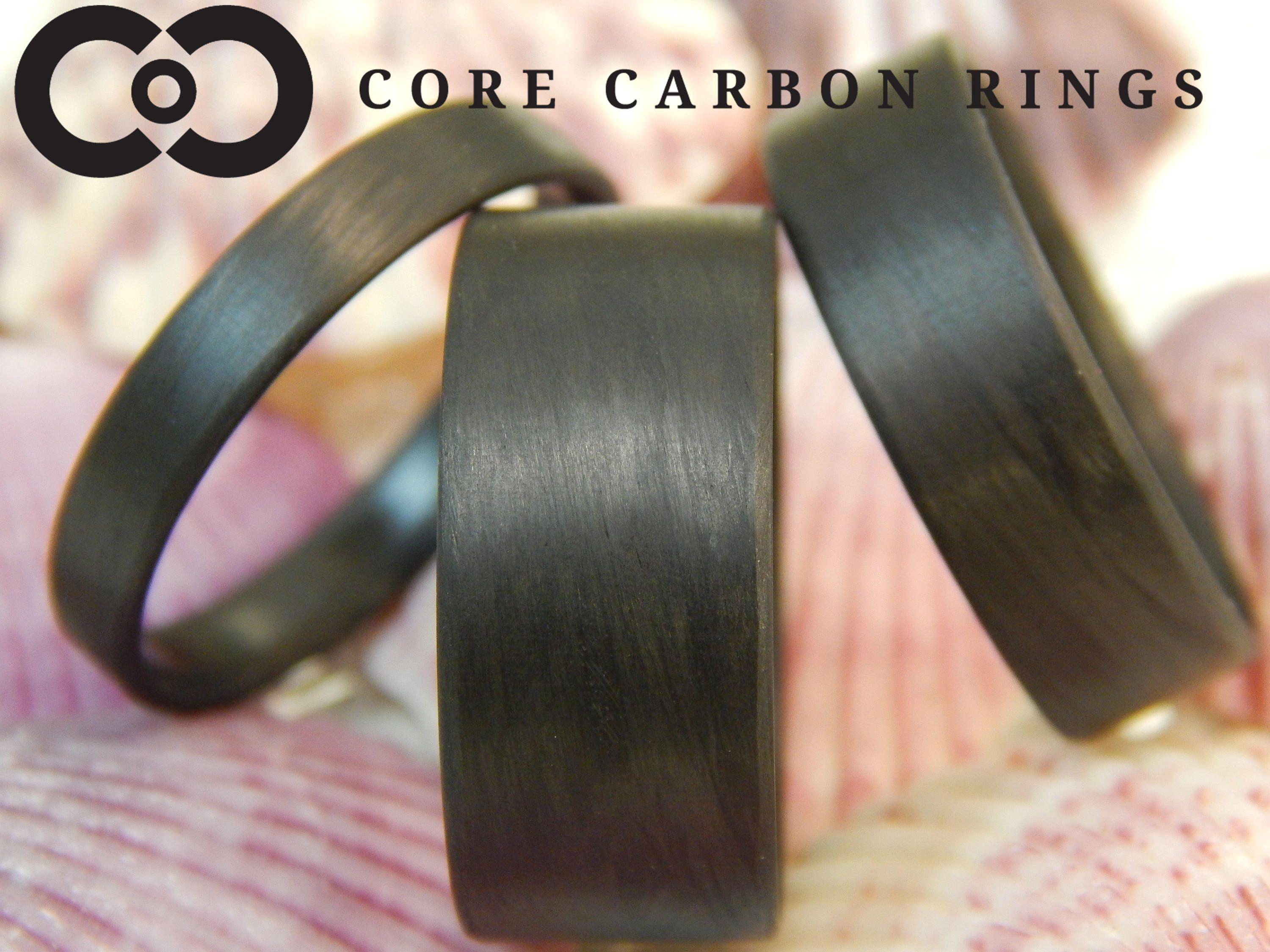 Carbon Fiber Unidirectional Black Wedding Ring Black