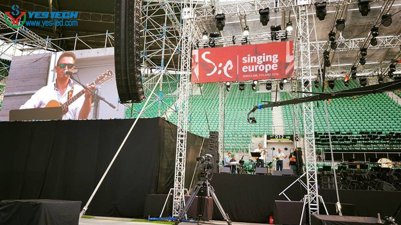 Magic Stage P5 9 Led Display Poland Singing Europe 2016 Wroclaw Http Www Yes Led Com En Products Html Pageindex Led Video Wall Video Wall Led Display Screen