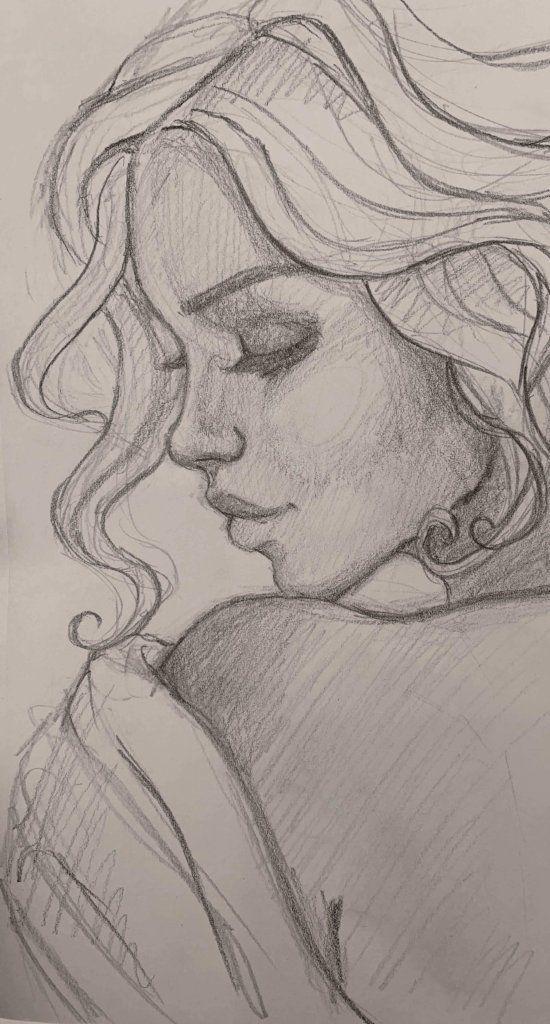 """""""Golden Gaze Study""""  Original Sketch"""
