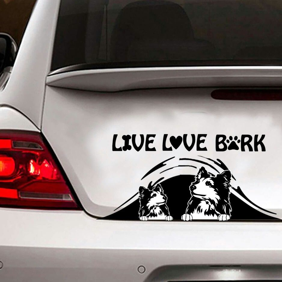 Pin By Ana L Rizo On Collies 3 Shelties Car Decals Car Stickers Funny Car Stickers [ 938 x 938 Pixel ]