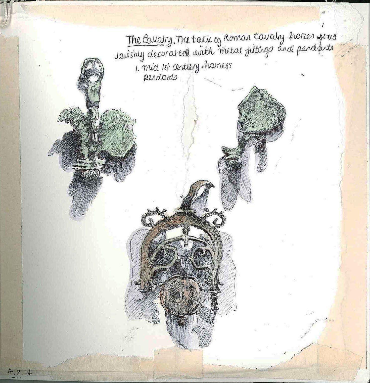 Mid 1st century harness pendants www.coriniummuseum.org