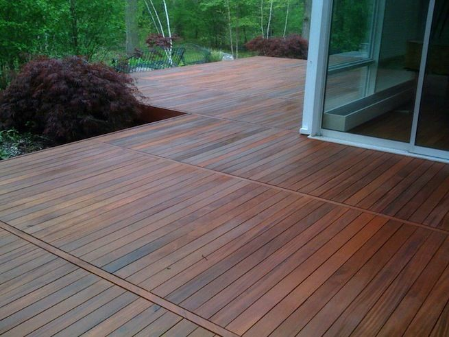 In the process of staining a deck with Benjamin Moores Arbourcoat