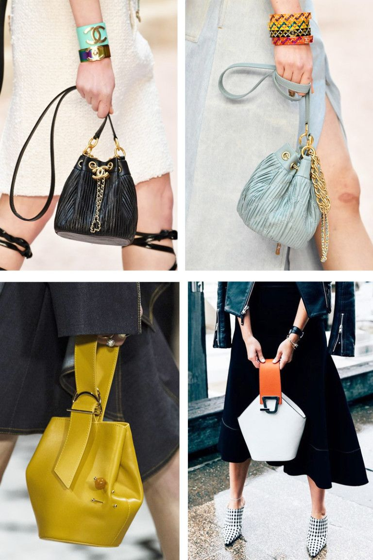 82a55f5d4 Bucket Bags - Bolsa Saco - Tendências Bolsas Inverno 2018 - As Bolsas da  Moda em 2018