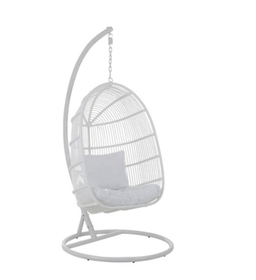 Hang Stoel Rotan.Hangstoel Ovaal Staal Wit Voorjaar 2020 In 2020 Hangstoel
