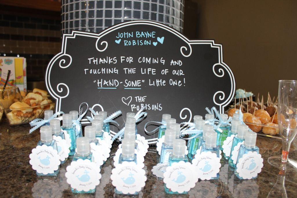 Baby Shower Hand Sanitizer Favors | John Bayne | Pinterest ...