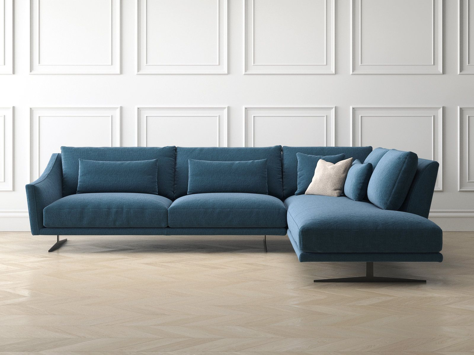 Skid Corner Comp 3d Model By Design Connected Sofa Inspiration