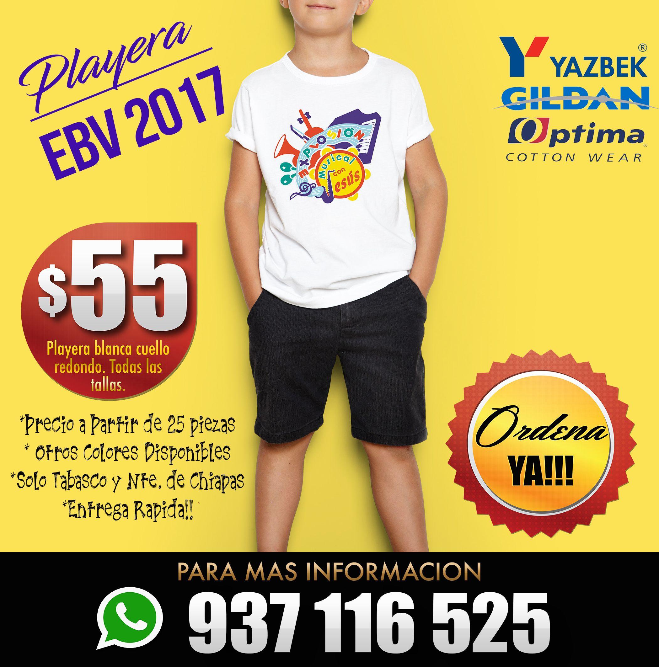Playera para la Escuela Biblica 2017  70cc13601840a