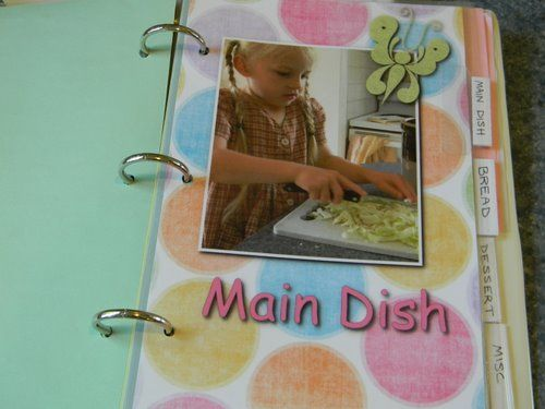 make your own cookbook  use a 5x7 three ring binder with