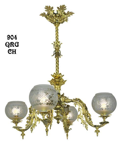 Vintage hardware lighting victorian chandelier neo rococo 4 victorian chandelier neo rococo 4 light by starr fellows circa 1856 904 qrg ch aloadofball Images