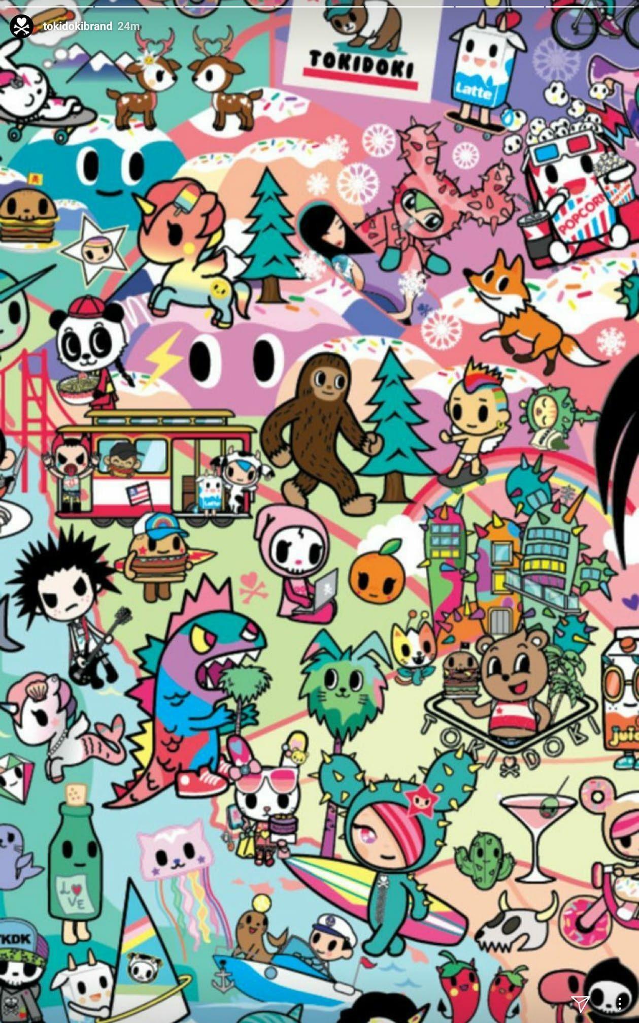 Hello Kitty Kawaii Canvas Fabric Panel Wall Decor PINK FLOWER JAPAN F//S