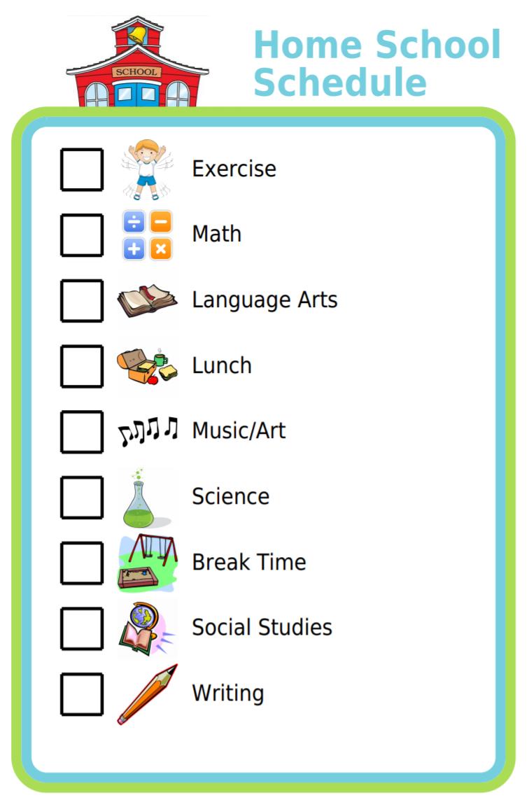 Free Printable Home School Schedule School Schedule Kids Schedule Homeschool Schedule