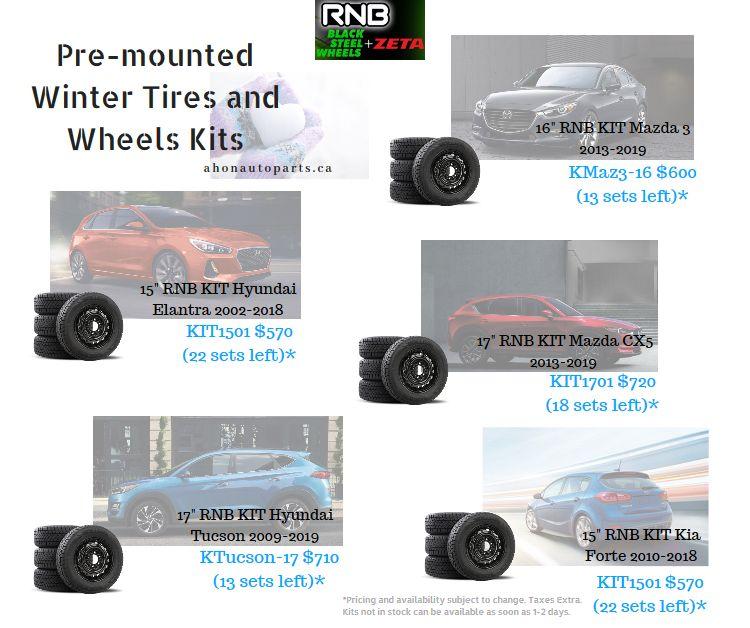 Pre Mounted Winter Tires And Wheels Kits Winter Tyres Hyundai Elantra Elantra