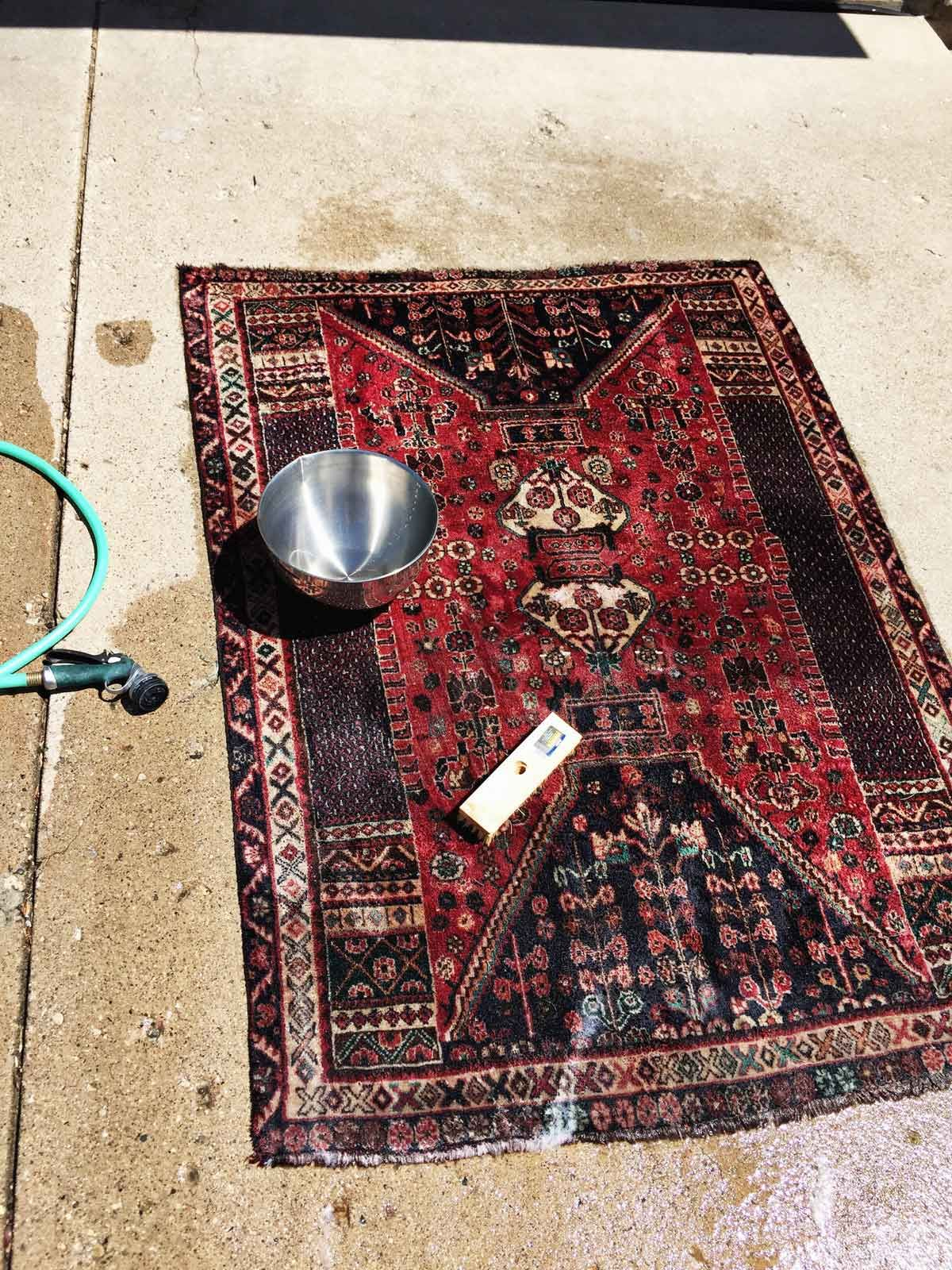 How To Wash A Thrifted Rug It Is Easy Rug Cleaning Diy Persian Rug Cleaning Rugs