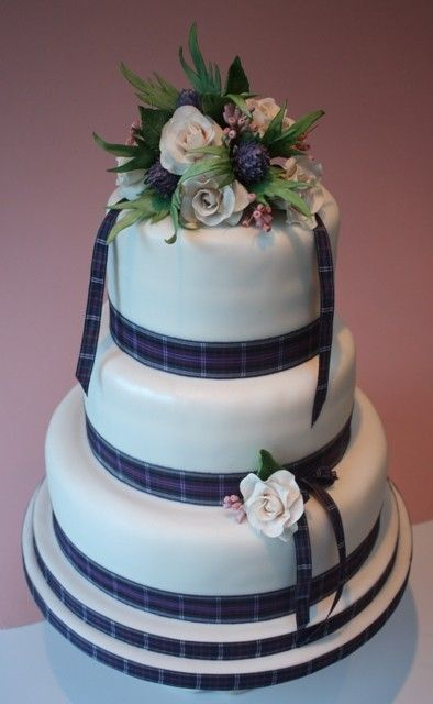 scottish themed wedding cakes tartan wedding might be a way to bring in our 19693