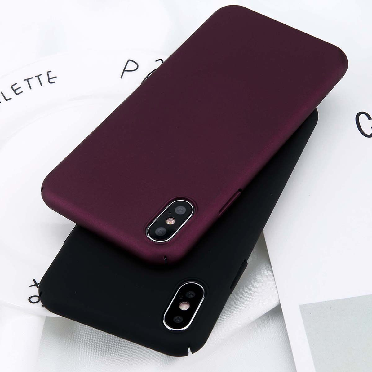 For iphone x 8 7 6s plus 5 ultrathin matte skin hard cover