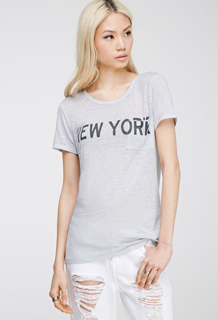 [F21]뉴욕 티셔츠