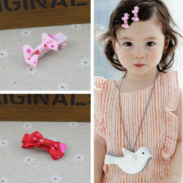 1 Girls Kids Children Sweet Pink Bunny Ear Bow Hair Clip Pin accessory Gift