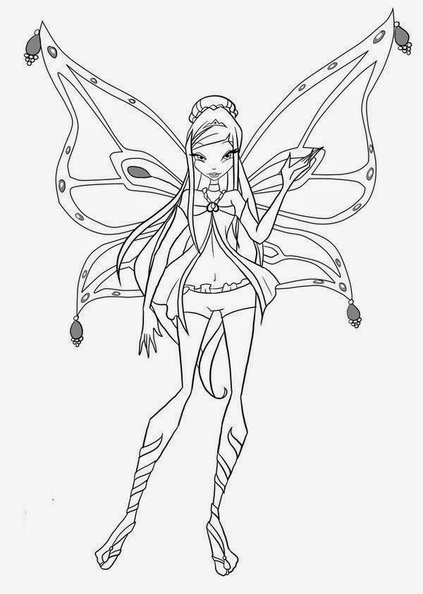 Free Coloring Activity With Winx Club Coloring Pages Musa