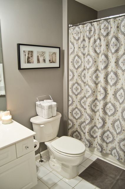 Guest Bathroom Before And After Laura Ashley Behr And Wordpress - Behr bathroom paint home depot