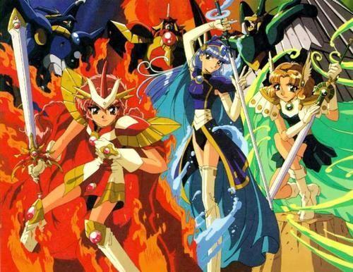 las guerreras magicas. una serie donde tres chicas de japo son  transportadas a un mundo magico llamado sefiro en el cual se combienten en  sus guerreras ... e22dcecb18a