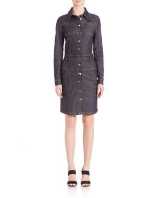 3f34963754 CARVEN Long-Sleeve Denim Shirt Dress.  carven  cloth  dress