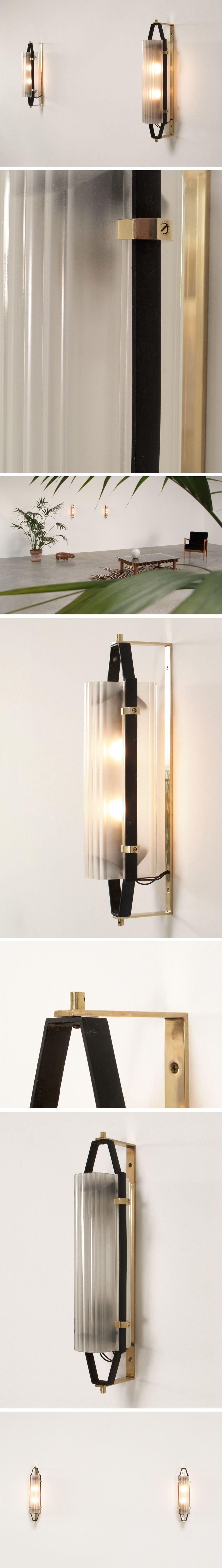 Italian Opaline Glass Sconces Circa 1950 Lighting