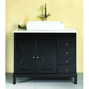 New Waves Aspen 40 Quot Modern Solid Wood Vanity From Costco Single Vanity Wood Vanity Vanity
