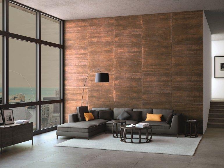 Revestimiento de pared suelo de gres porcel nico imitaci n met lico oxide colecci n inalco - Revestimiento de suelos ...