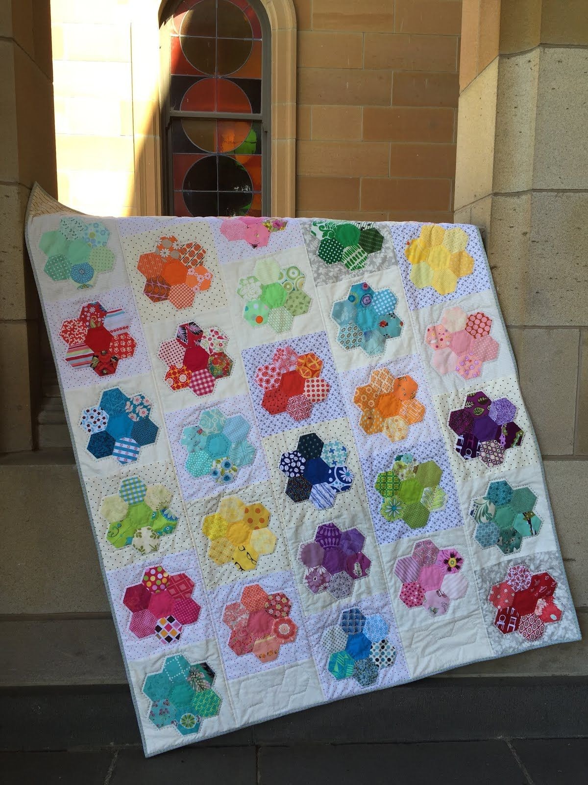 PatchworknPlay Kews Garden love everything about this quilt the