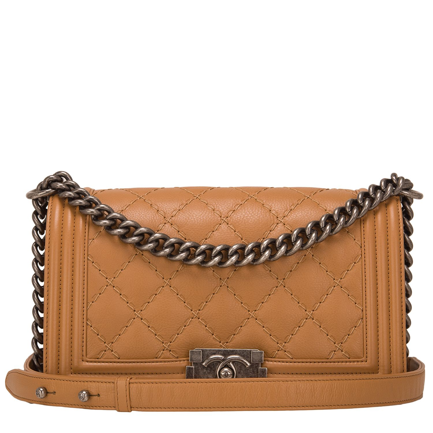 0100b9d675e8 Chanel Camel Quilted Calfskin Medium #BoyBag | Handbags to Die For ...