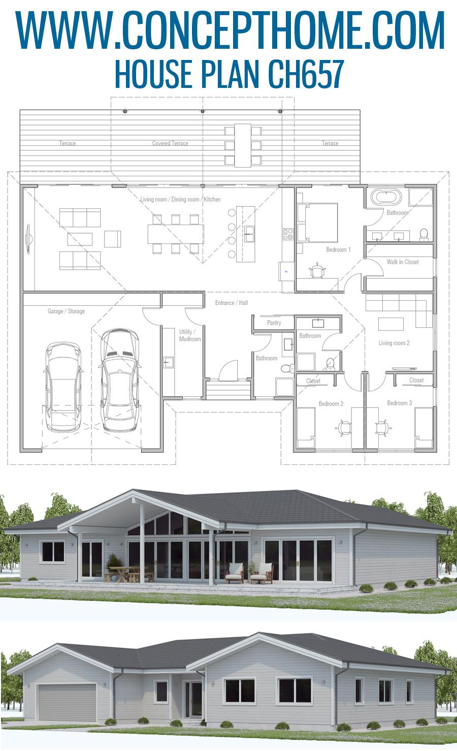 Floor Plan Ch657 House Plans Dream House Plans My House Plans