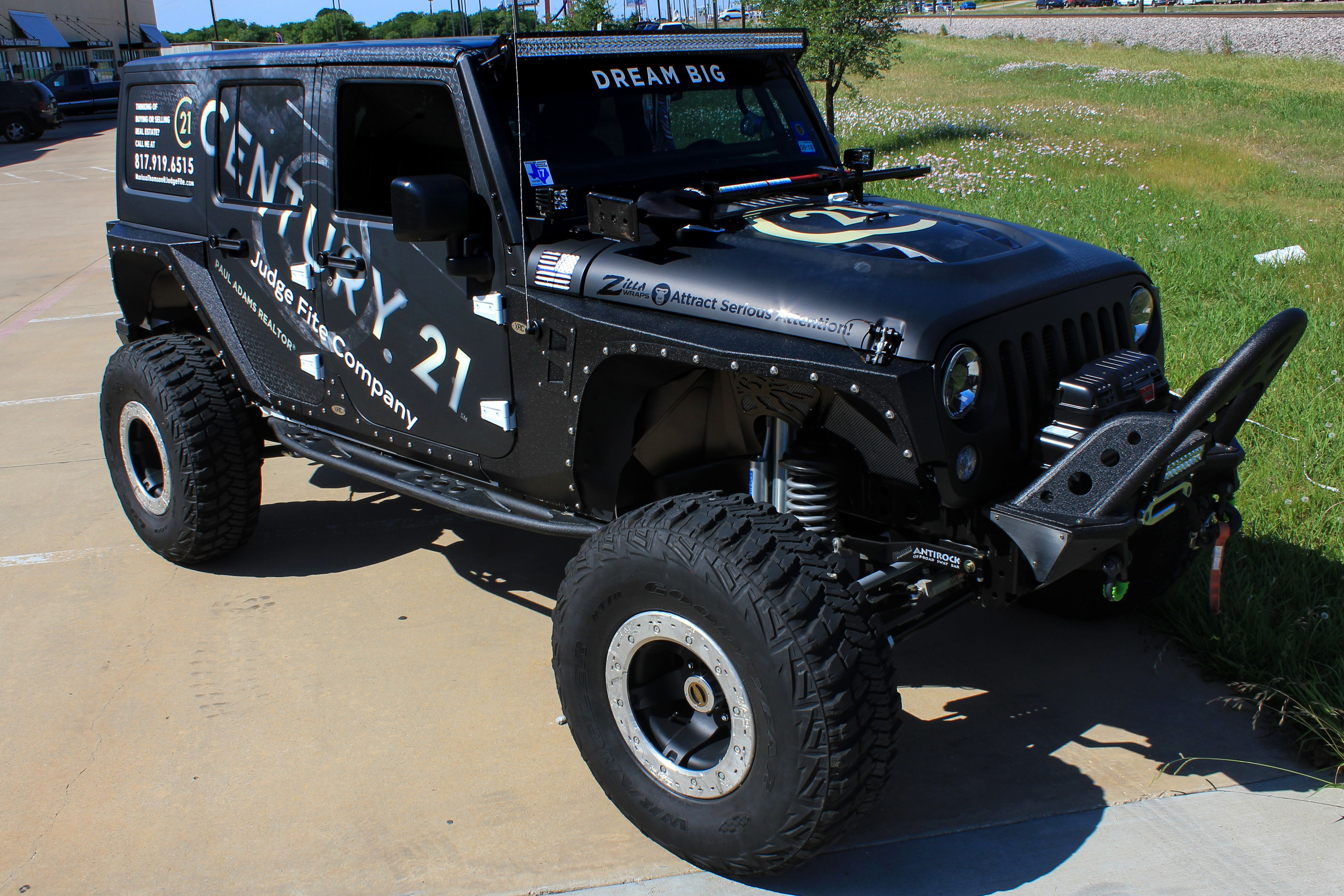 Custom Jeep Wrap Using Blue And Black Matte Vinyl Custom Jeep