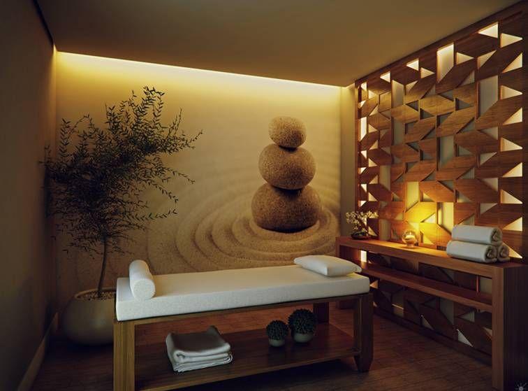 Decora o em sala de massagem pesquisa google spa - Decoracion zen spa ...