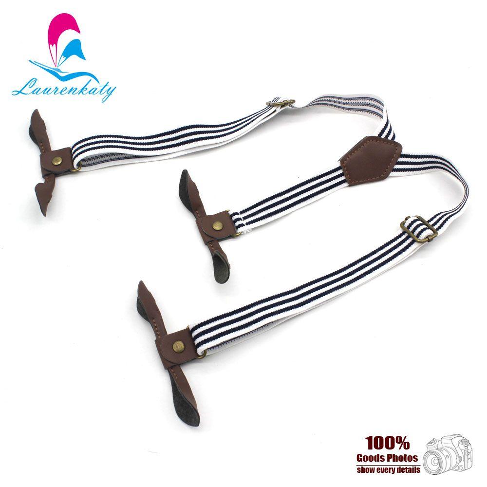 Boy suspender Children boys/girls button braces children Adjustable stripe toddler elastic braces 2.0cm EBD6106
