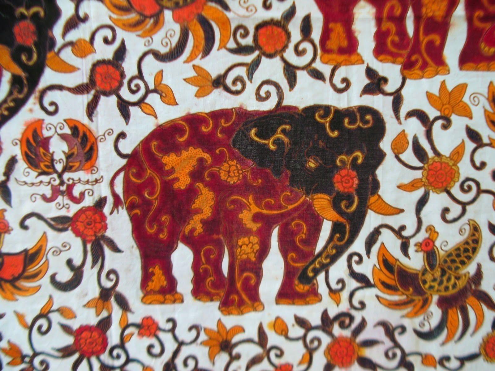 Corak Batik Tulis Tangan   Figuratif, Gambar, Flora