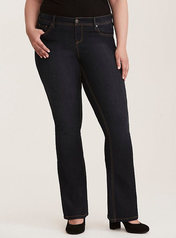 bd1055a81ee Luxe Stretch Slim Boot Jean - Dark Wash with Contrast Stitching, UNION