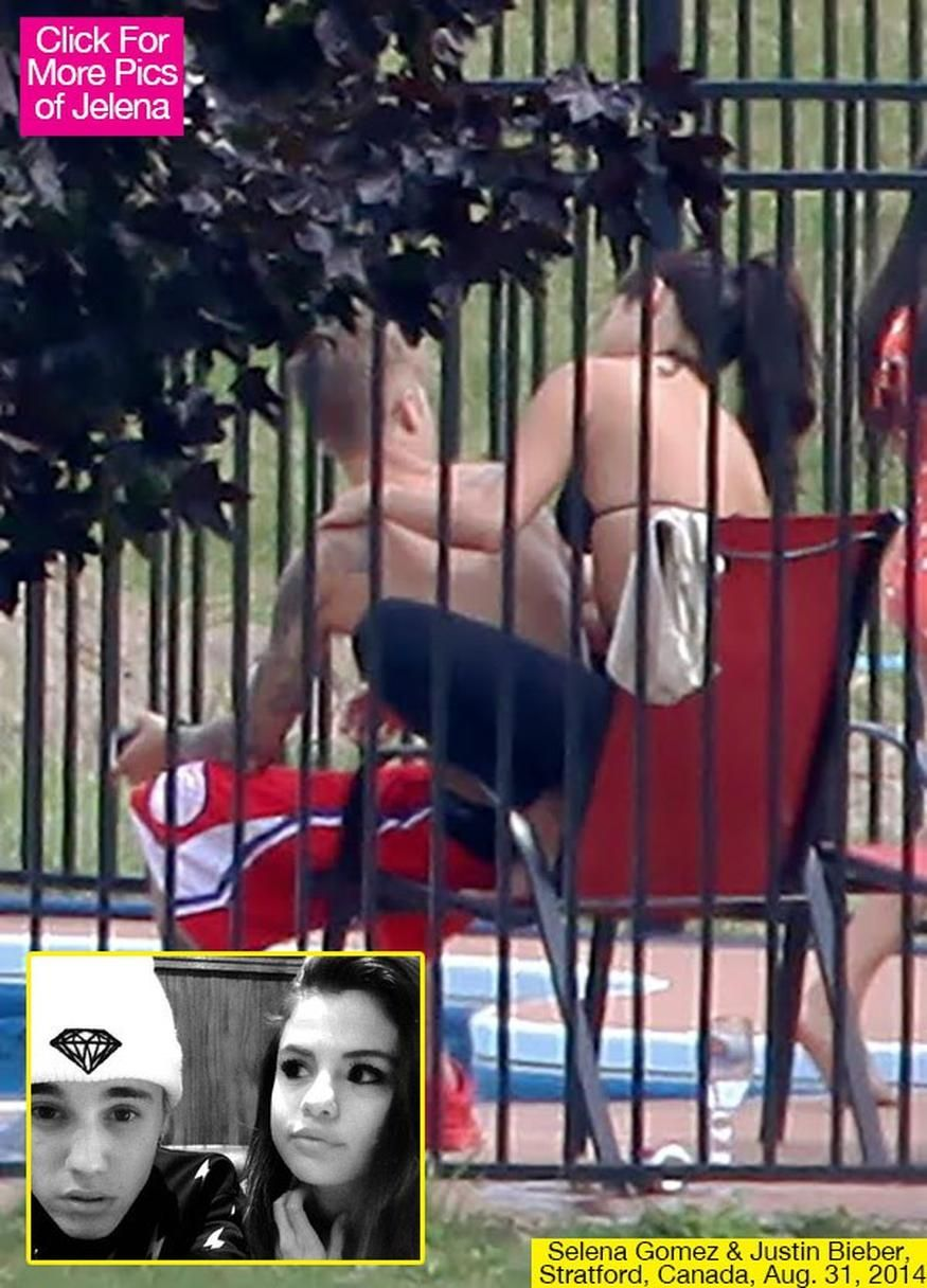 Justin Bieber and Selena Gomez were caught cuddling while on vacation in  Canada.