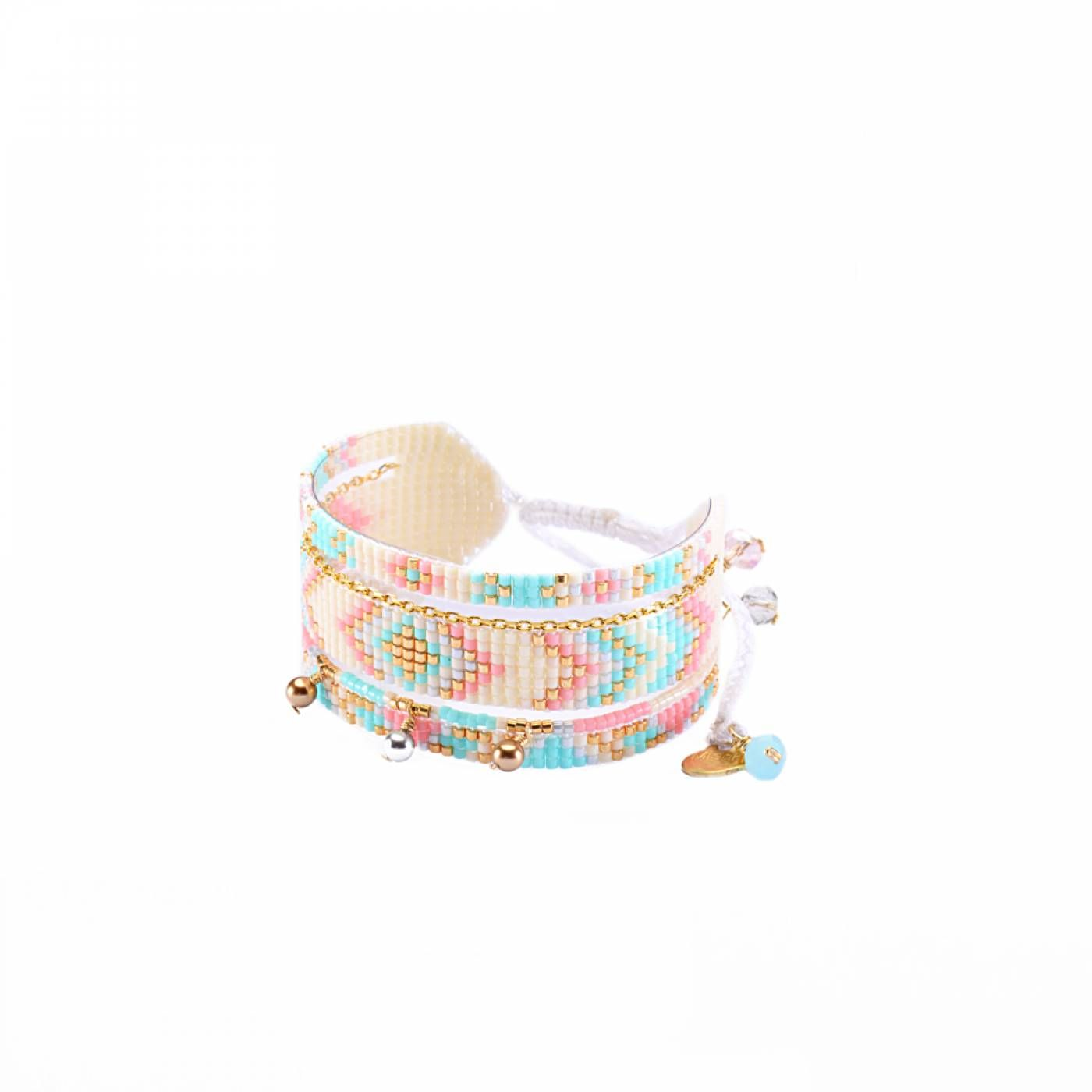 Woman Pearl Pink & TurquoiseMedly - mishky Bracelet