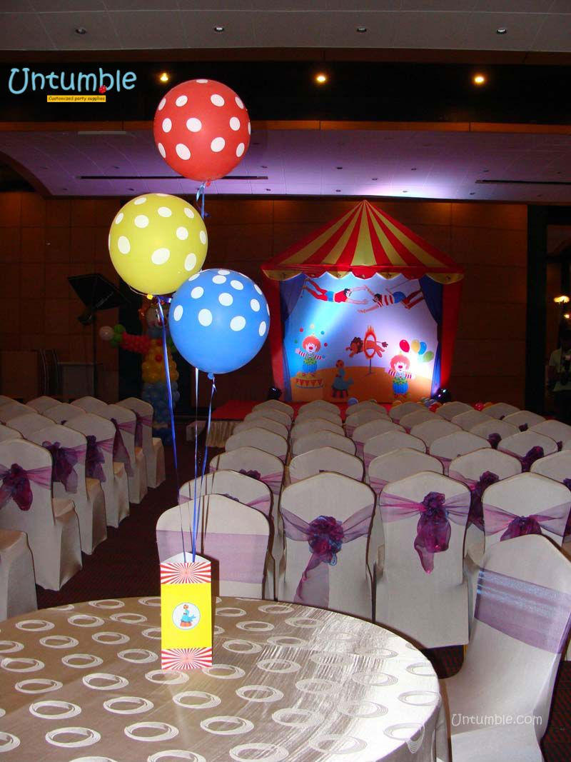 Customized Circus Birthday Party Decorations And Theme Supplies By Untumble In India Online With Name