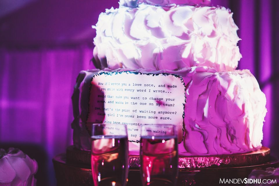 Reception Cake With Our Slow Dance Song Lyrics On It MrMrsStatis