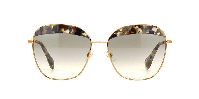 1bc772375c17 Miu Miu MU 53QS DHE3H2 Havana Marble White and Black Sunglasses ...