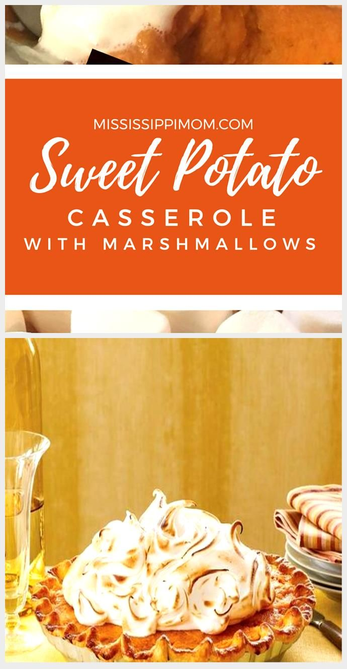 Simple Sweet Potato Casserole with Marshmallows - MississippiMom.com #sweetpotatoc ...